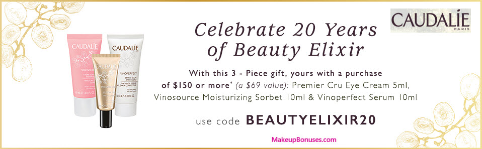 Receive a free 3-pc gift with your $150 Caudalie purchase