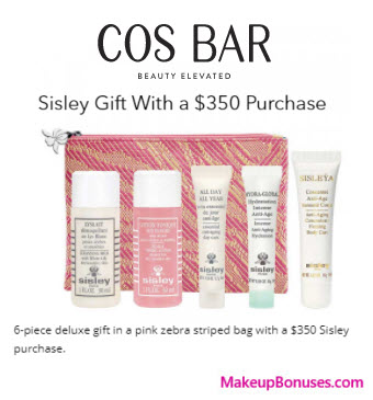 Receive a free 6-pc gift with your $350 Sisley Paris purchase