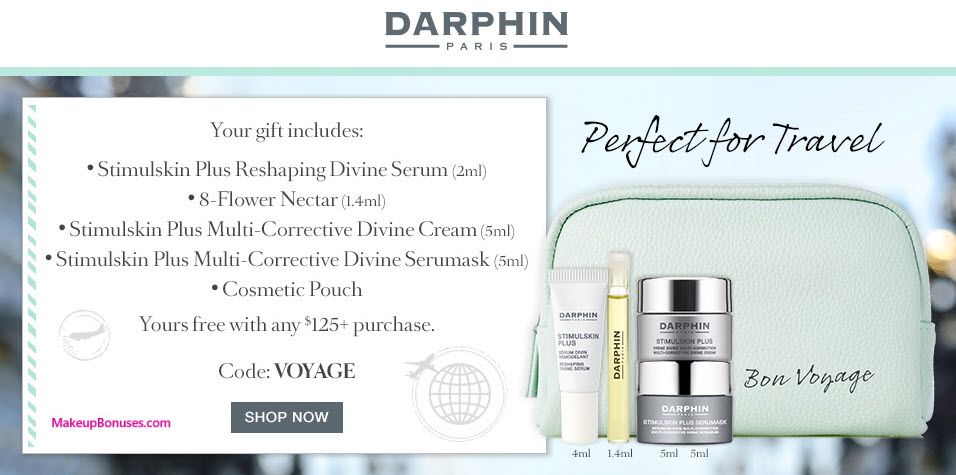 Receive a free 5-pc gift with your $125 Darphin purchase
