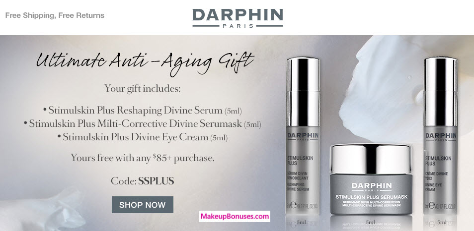 Receive a free 3-pc gift with your $85 Darphin purchase