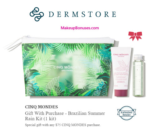 Receive a free 3-pc gift with your $75 CINQ MONDES purchase