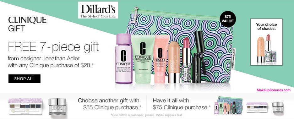Receive a free 9-pc gift with your $75 Clinique purchase