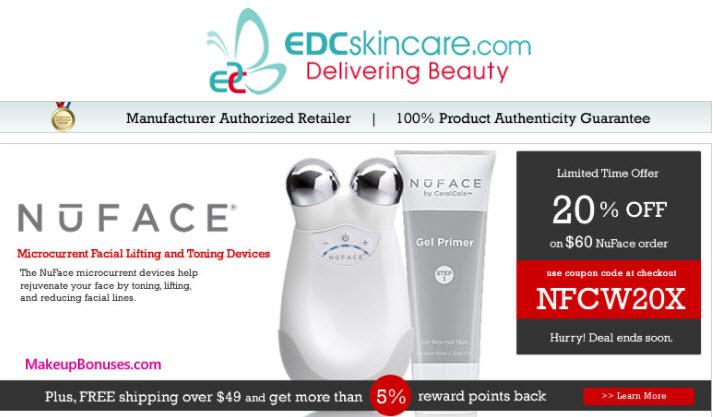EDCskincare.com Sale - MakeupBonuses.com