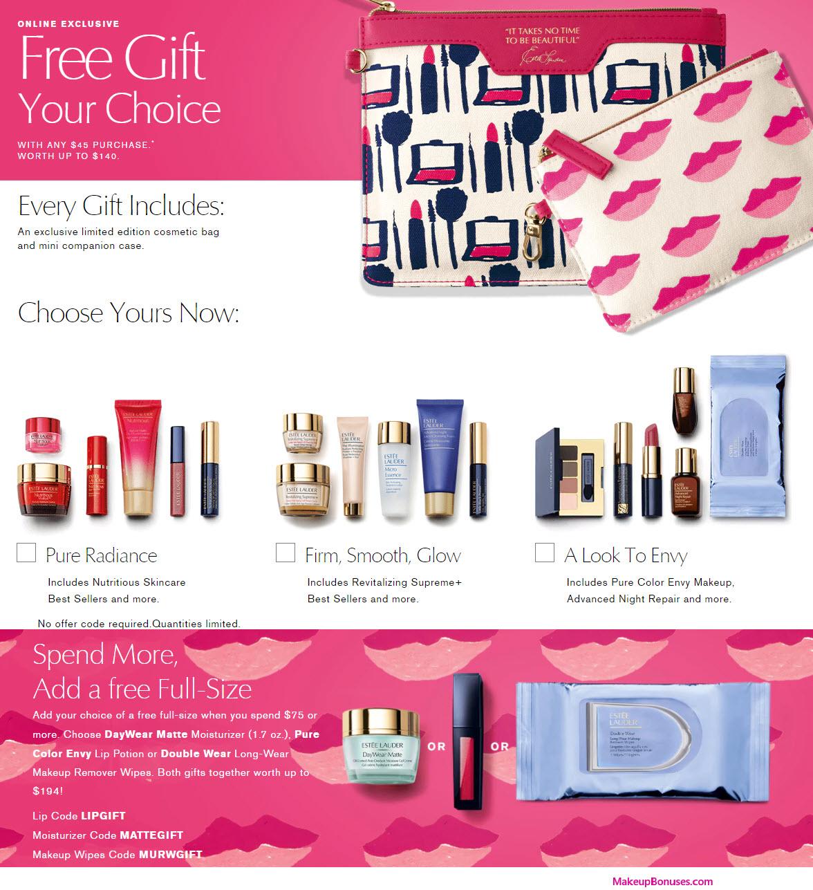 Estée Lauder Free Bonus Gifts w Purchase - MakeupBonuses.com