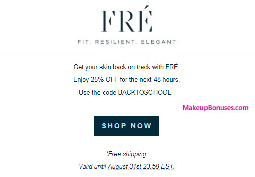 FRÉ Skincare Sale - MakeupBonuses.com