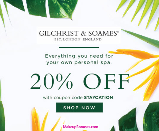 Gilchrist and Soames Coupon Codes