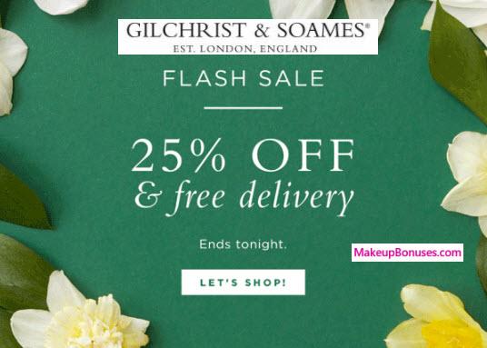 Gilchrist & Soames Sale - MakeupBonuses.com
