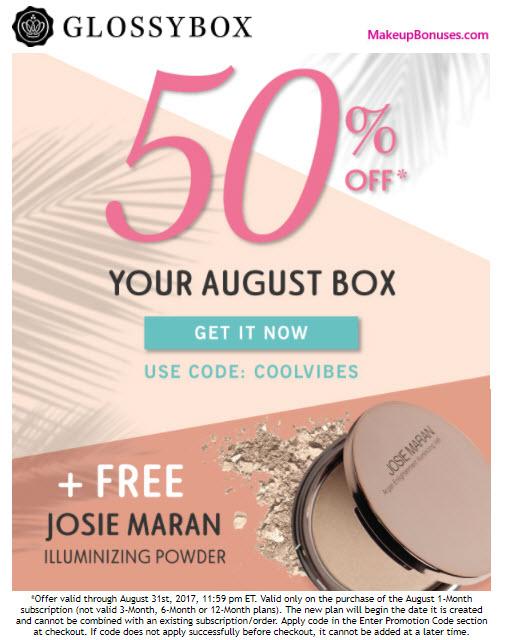 Glossybox Sale - MakeupBonuses.com