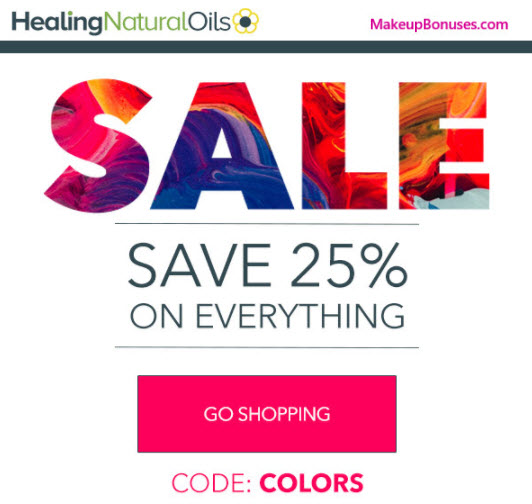 Healing Natural Oils Sale - MakeupBonuses.com