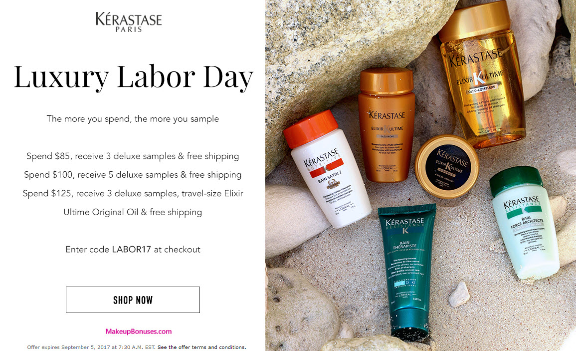 Receive a free 3-pc gift with your $85 Kérastase purchase