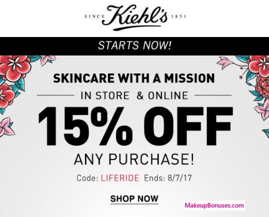 Kiehl's Sale - MakeupBonuses.com