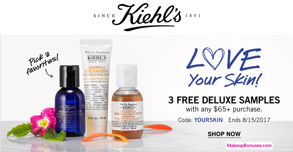 Receive your choice of 3-pc gift with your $65 Kiehl's purchase