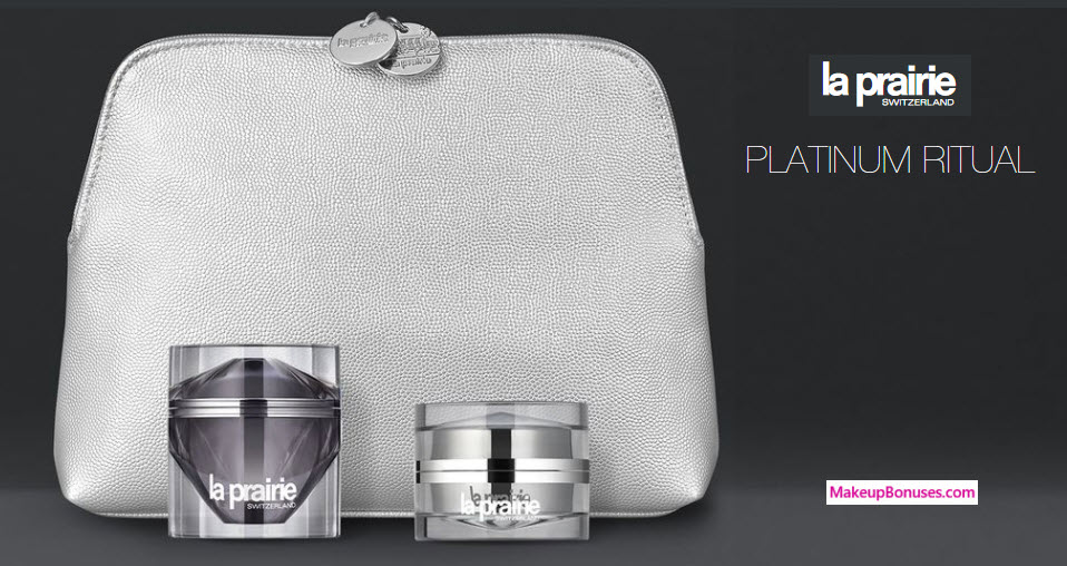Receive a free 4-pc gift with your $450 La Prairie purchase