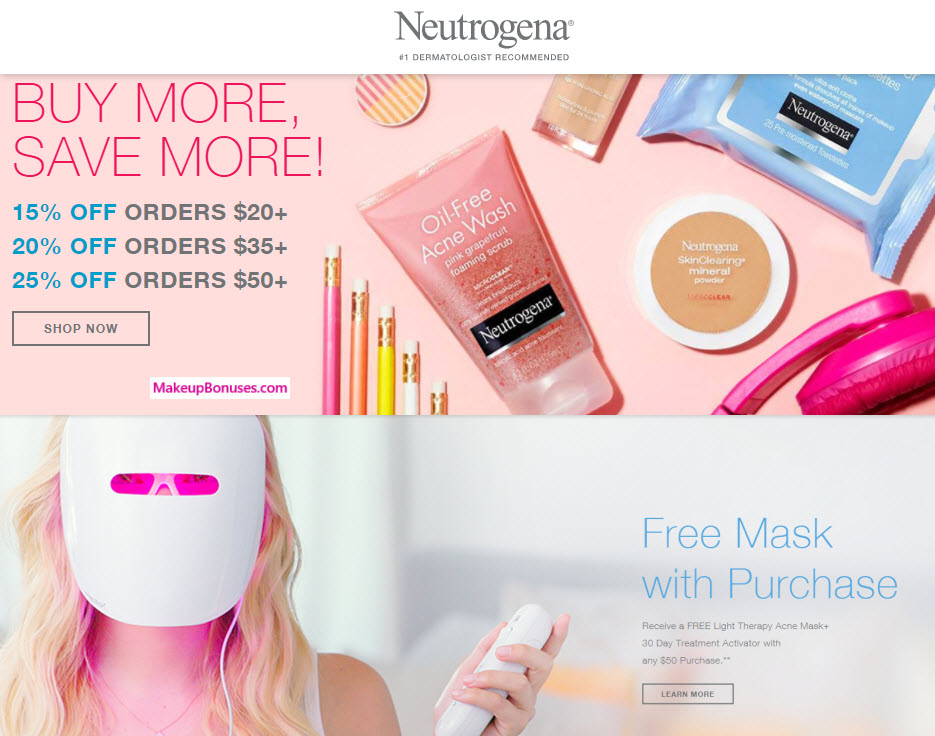 Neutrogena Sale - MakeupBonuses.com