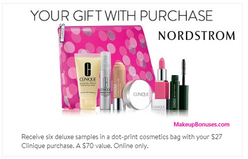 Receive a free 7-pc gift with your $27 Clinique purchase