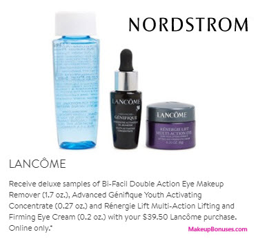 Receive a free 3-pc gift with your $39.5 Lancôme purchase