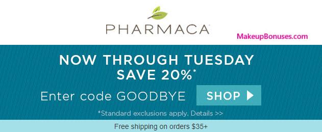 Pharmaca Sale - MakeupBonuses.com