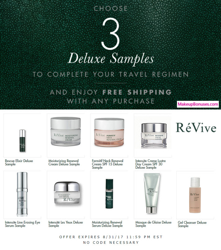 Receive your choice of 3-pc gift with your any RéVive purchase