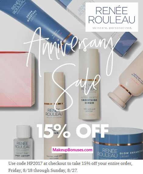 Renée Rouleau Sale - MakeupBonuses.com
