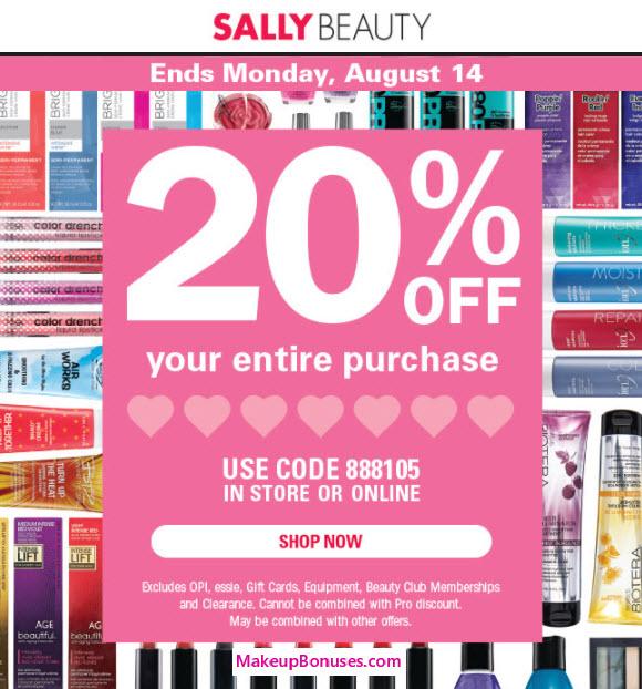 Sally Beauty Sale - MakeupBonuses.com