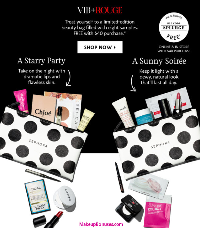 Receive a free 9-pc gift with your VIB or ROUGE member $40 purchase purchase