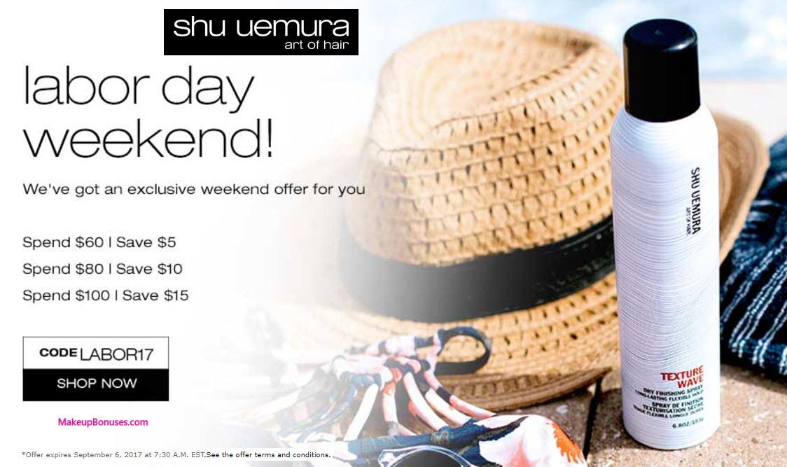 Shu Uemura Art of Hair Sale - MakeupBonuses.com