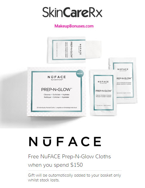 Receive a free 20-pc gift with your $150 NuFACE purchase