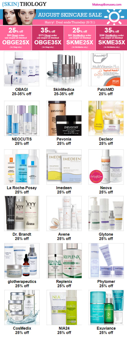 Skinthology Sale - MakeupBonuses.com
