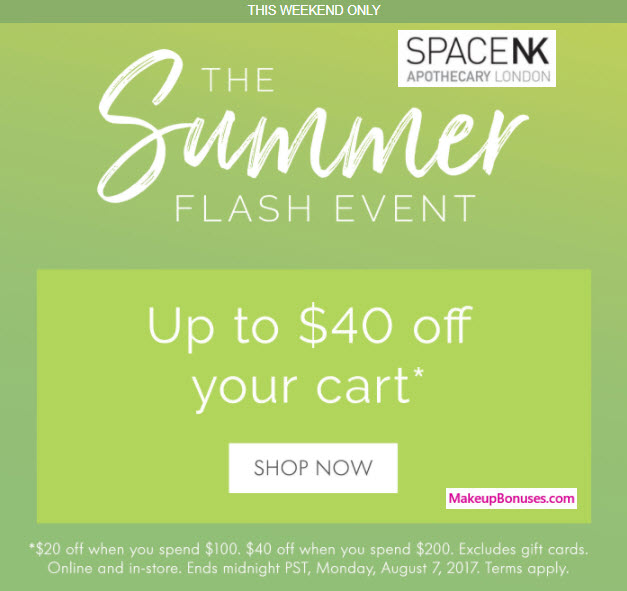 Space NK Sale - MakeupBonuses.com