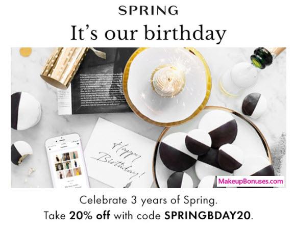Spring Sale - MakeupBonuses.com