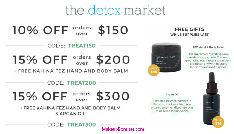 The Detox Market Sale - MakeupBonuses.com