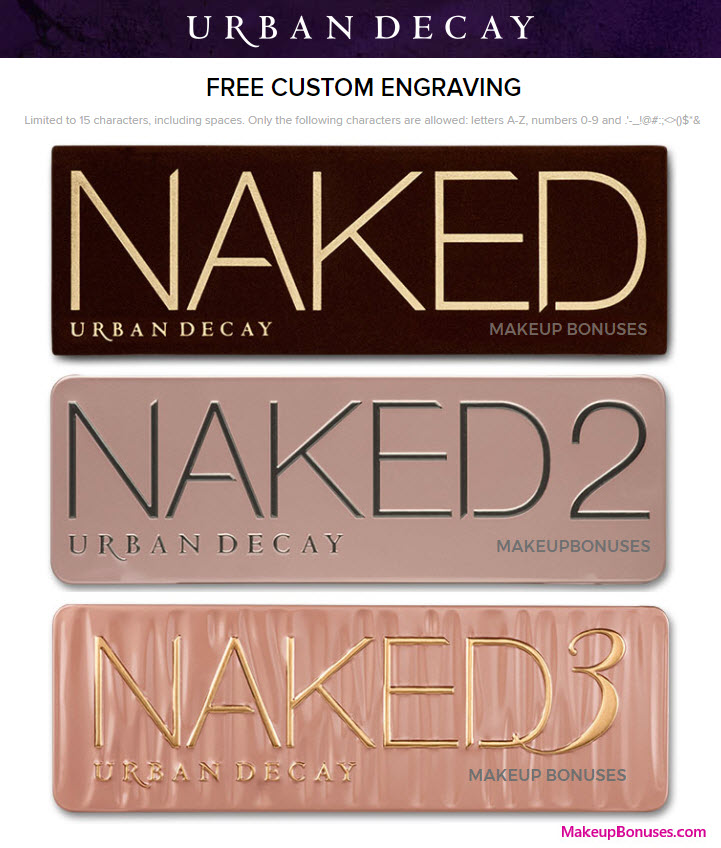 Urban Decay NAKED Engravable - MakeupBonuses.com