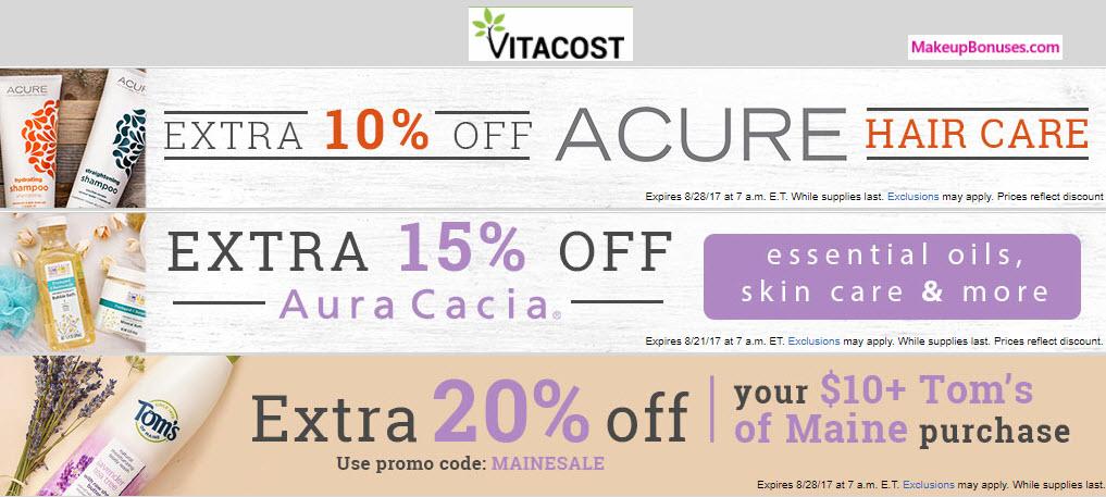 VitaCost Sale - MakeupBonuses.com