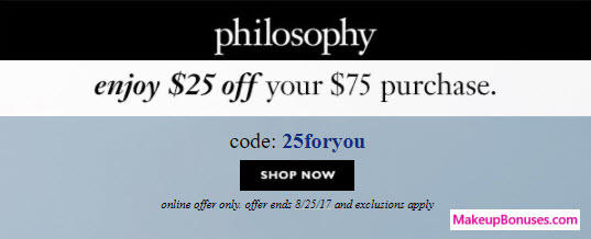 philosophy Sale - MakeupBonuses.com