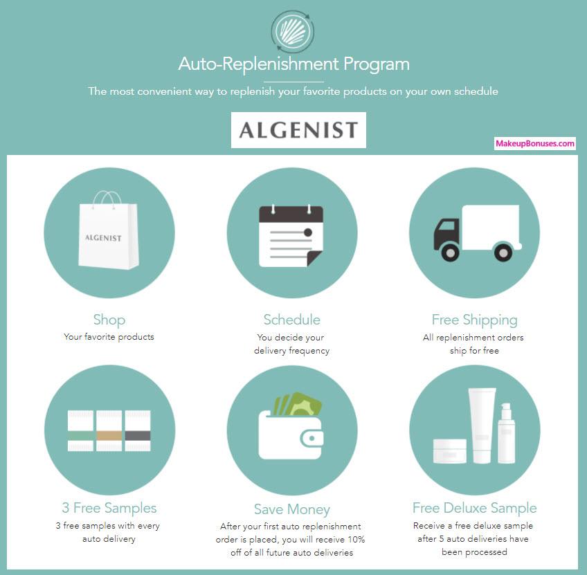 Algenist Auto Delivery Service - MakeupBonuses.com