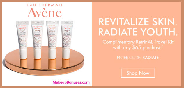 Receive a free 4-pc gift with your $65 Avène purchase