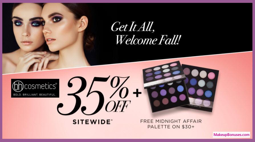 bh cosmetics 35 discount plus 16 pc bonus gift with purchase makeup bonuses. Black Bedroom Furniture Sets. Home Design Ideas