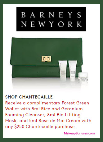 Receive a free 4-pc gift with your $250 Chantecaille purchase