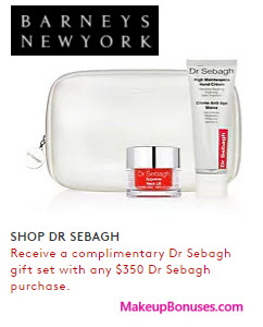 Receive a free 3-pc gift with your $350 Dr Sebagh purchase