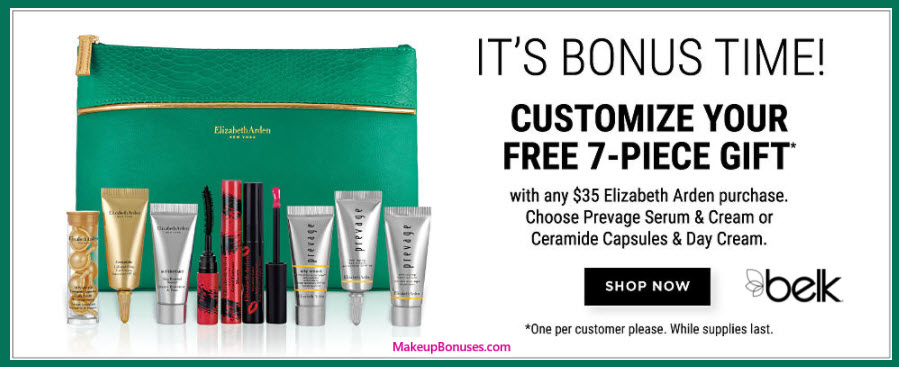 Elizabeth Arden Free Gift With Purchase Makeup Bonuses