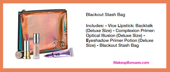 Receive a free 4-pc gift with your $75 Urban Decay purchase
