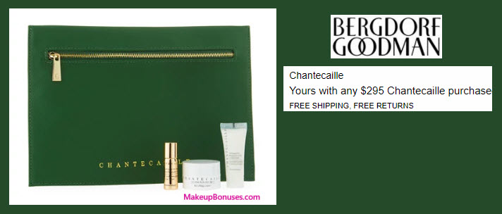 Receive a free 3-pc gift with your $295 Chantecaille purchase