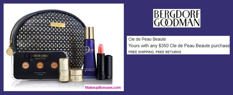 Receive a free 5-pc gift with your $350 Clé de Peau Beauté purchase