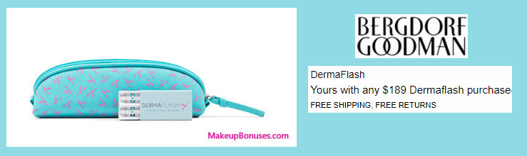 Receive a free 3-pc gift with your $189 DermaFlash purchase