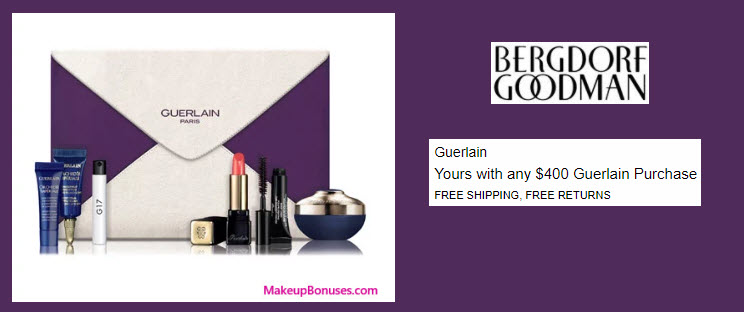 Receive a free 6-pc gift with your $600 Guerlain purchase