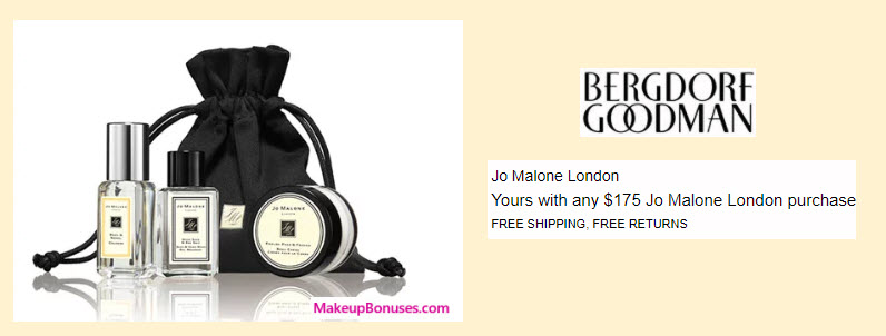 Receive a free 3-pc gift with your $175 Jo Malone purchase