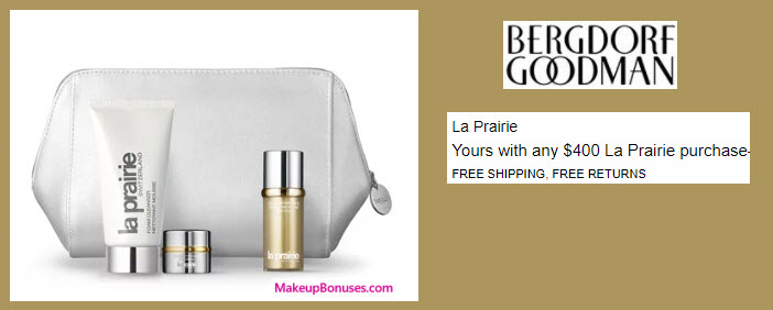 Receive your choice of 4-pc gift with your $600 La Prairie purchase