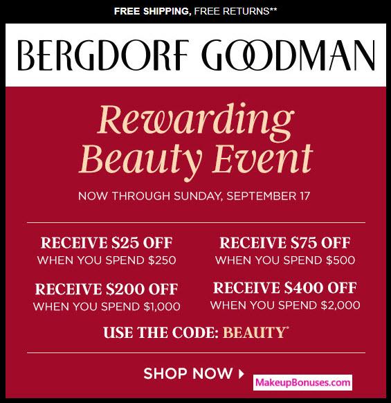 Bergdorf Goodman Sale - MakeupBonuses.com