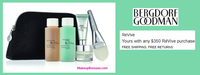 Receive a free 5-pc gift with your $350 RéVive purchase