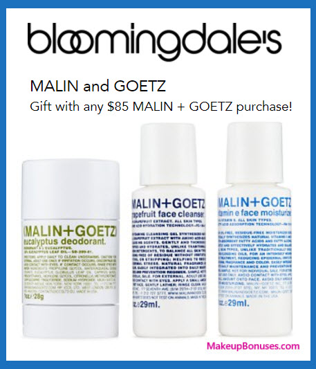 Receive a free 3-pc gift with your $85 Malin + Goetz purchase